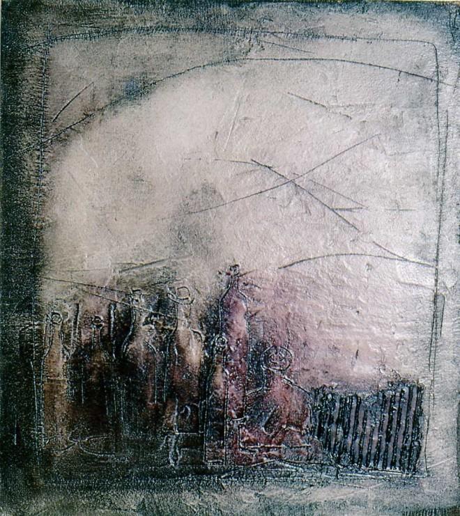 by Marie-Joseph Orgiazzi (1945-1998), artista francesa óleo sobre tela, 1974
