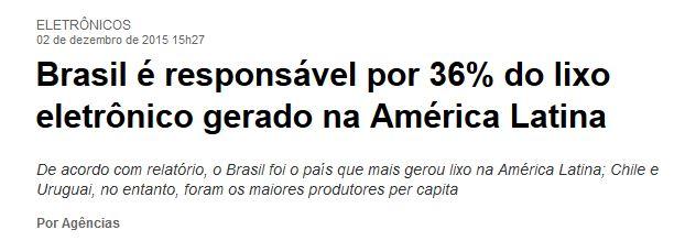 Chamada do Estadão, 2 dez° 2015