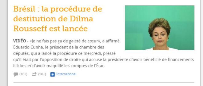 Chamada de Le Figaro, França