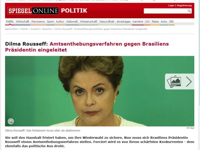 Chamada de Der Spiegel, Alemanha