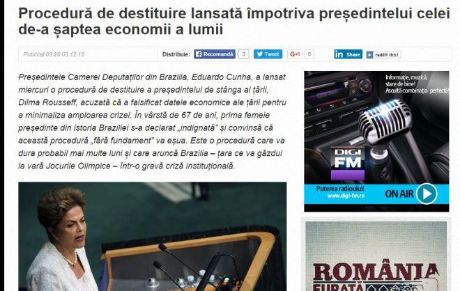 Chamada de Digi24, Romênia