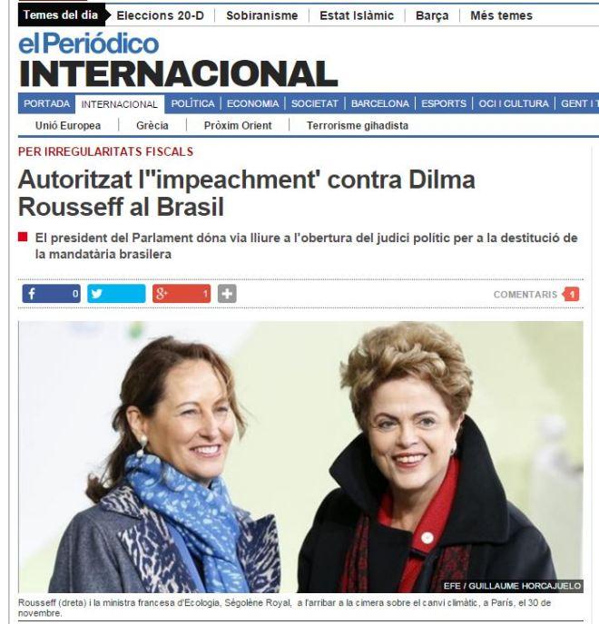 Chamada de El Periódico Internacional, Catalunha, Espanha