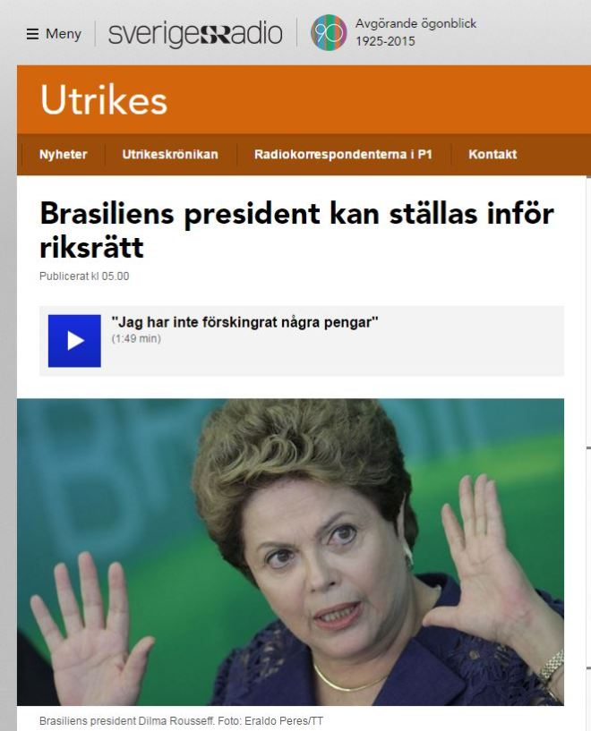 Chamada de Sveriges Radio, Suécia