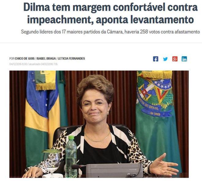Chamada de O Globo, 4 dez° 2015