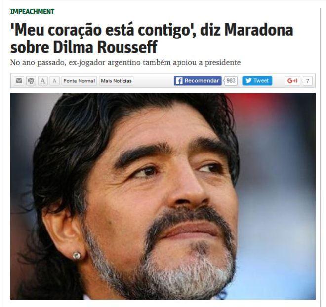 Chamada do jornal O Tempo, 14 dez° 2015