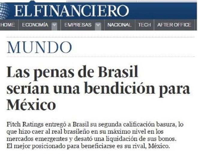 Chamada de El Financiero, 19 dez° 2015