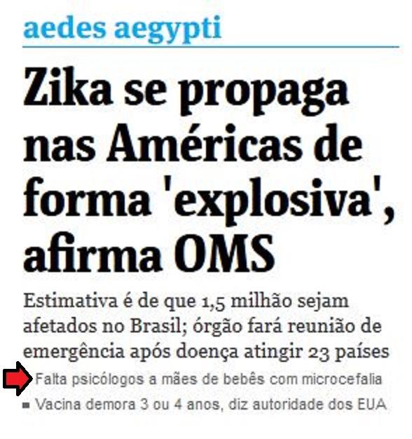 Chamada da Folha de São Paulo, 28 jan° 2015