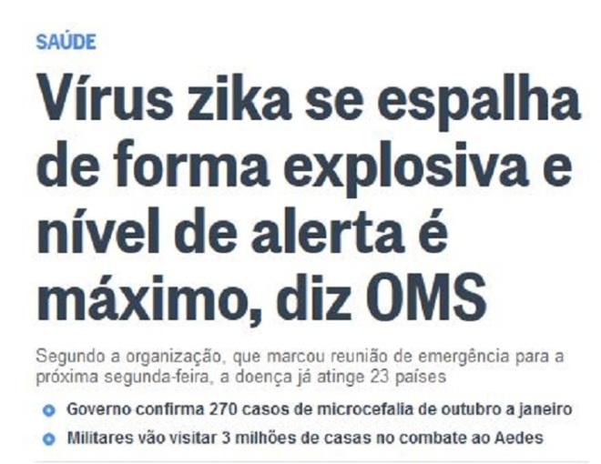 Chamada d'O Globo, 28 jan° 2015