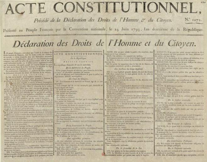 Declaração dos Direitos do Homem e do Cidadão Aprovada em 14 junho 1793
