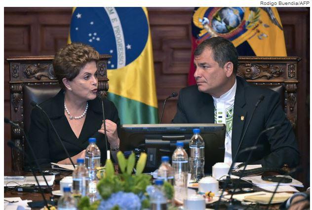 Dilma e Correa