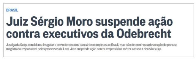 Chamada d'O Globo, 2 fev° 2016