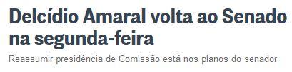 Chamada d'O Globo, 21 fev° 2016