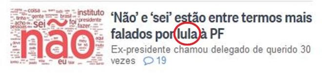 Chamada do jornal O Globo, 15 mar 2016