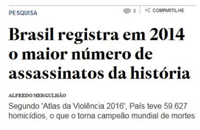 Chamada do Estadão, 22 mar 2016