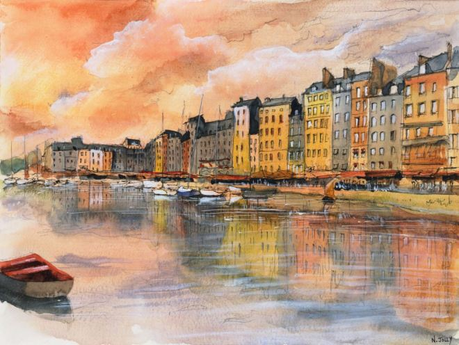 by Nicolas Jolly, artista francês aquarela