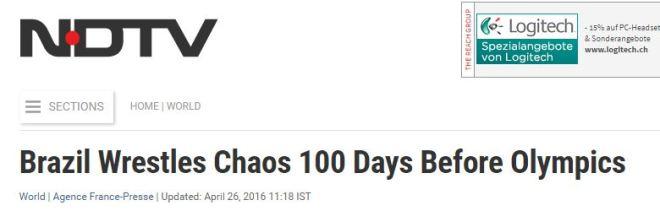 Brasil luta contra o caos 100 dias antes dos JOs