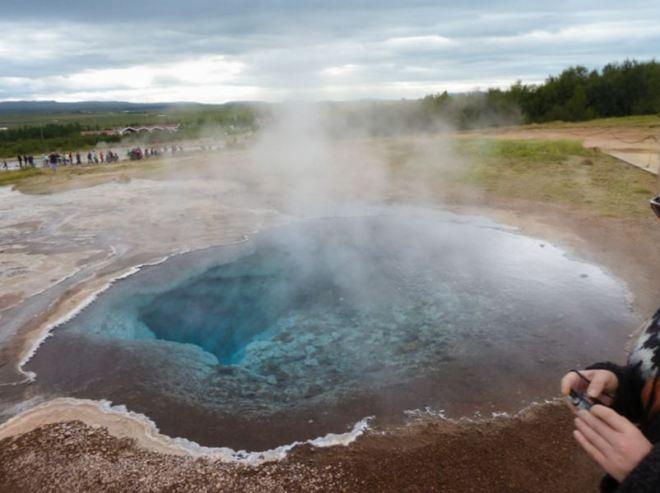 Islândia: gêiser