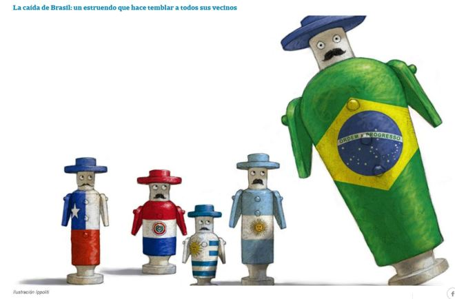 A queda do Brasil: um estrondo que faz tremer todos os vizinhos
