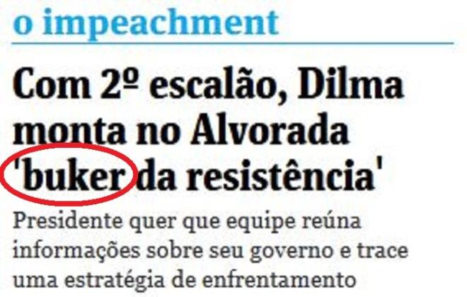 Chamada da Folha de São Paulo, 3 maio 2016