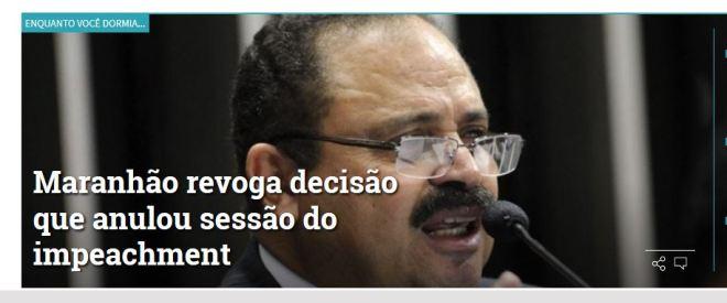 Chamada Gazeta do Povo (Curitiba), 10 maio 2016