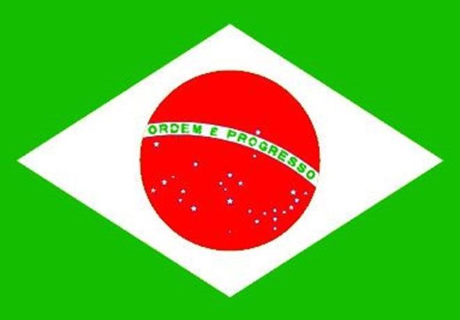 Bandeira brasileira com as cores italianas