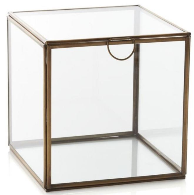 Caixa vidro
