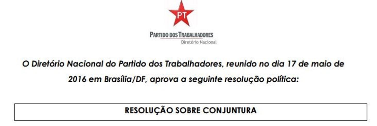 PT resolução 1