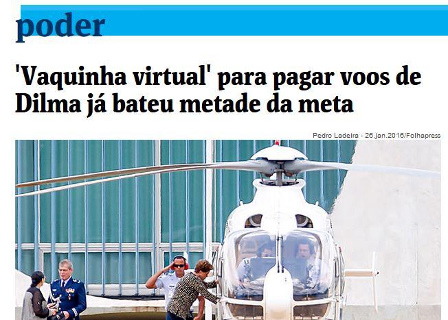 Chamada da Folha de São Paulo, 30 jun 2016