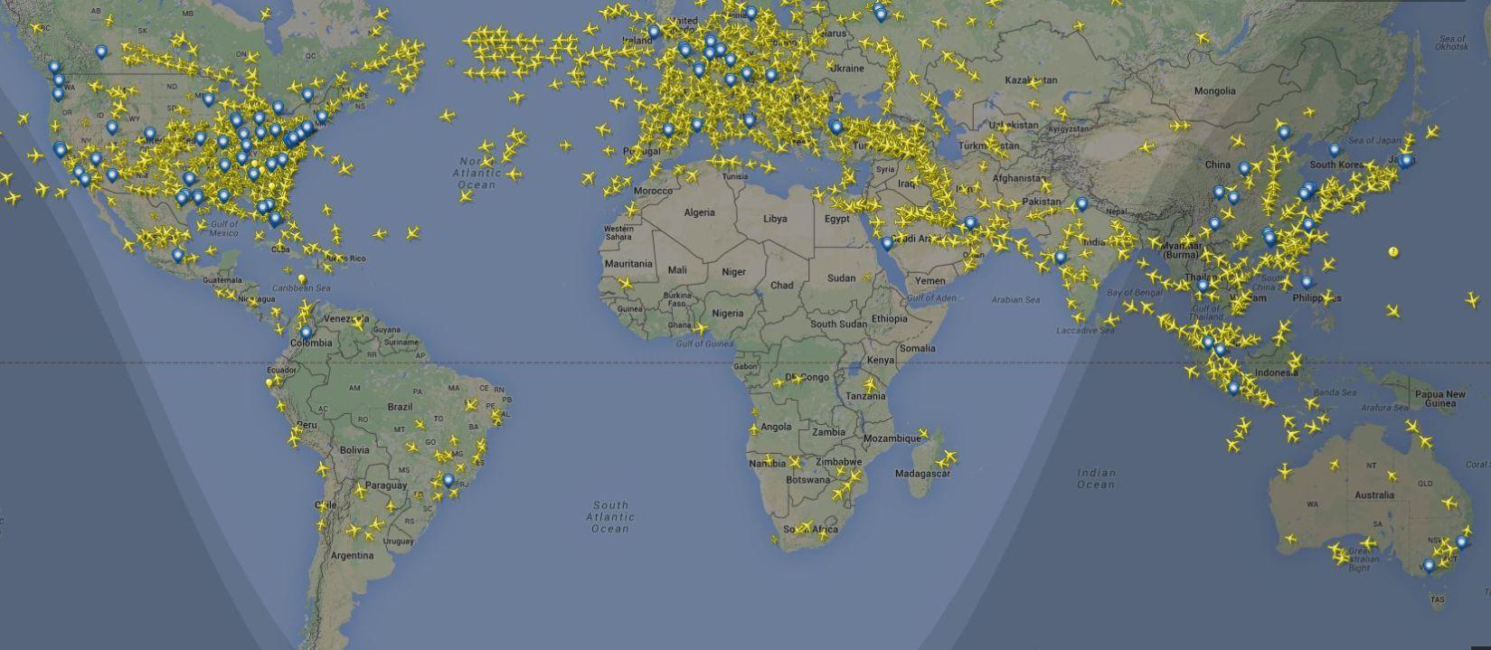 Imagem do site Flight Radar clique para ampliar