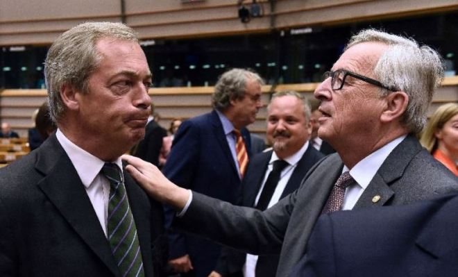 Nigel Farage & Jean-Claude Juncker