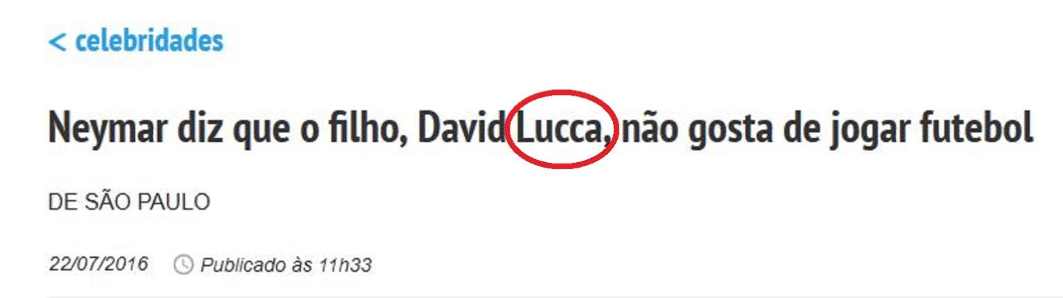 Chamada da Folha, 22 jul° 2016