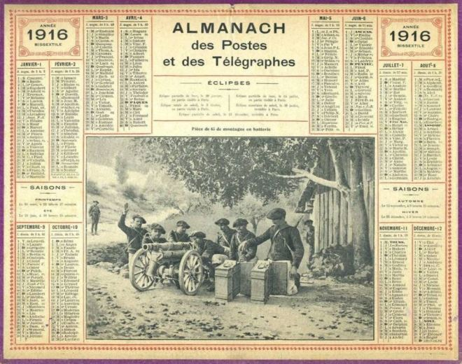 Calendario 1916