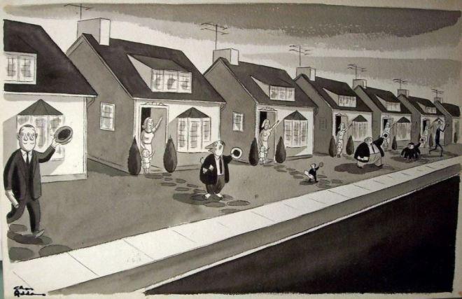 by Charles Samuel Addams (1912-1988), desenhista americano