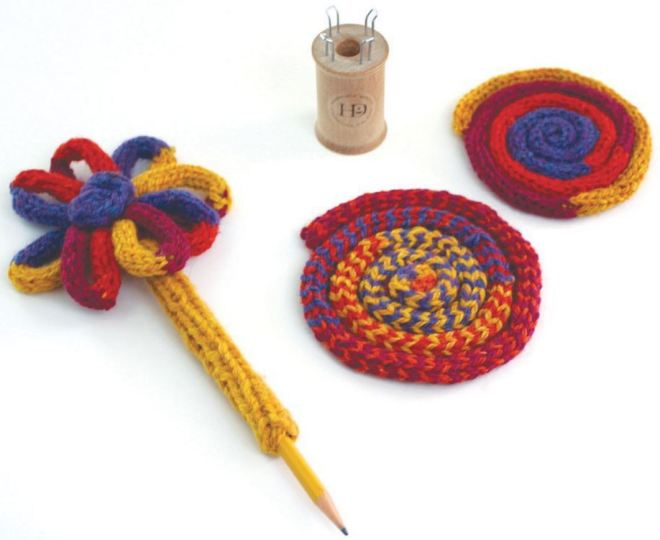 French knitting - tricô tubular