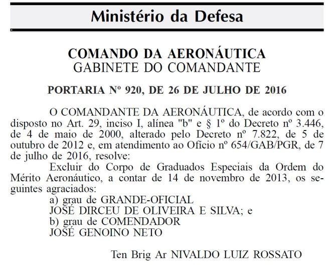 Diário Oficial da União, 18 ago 2016