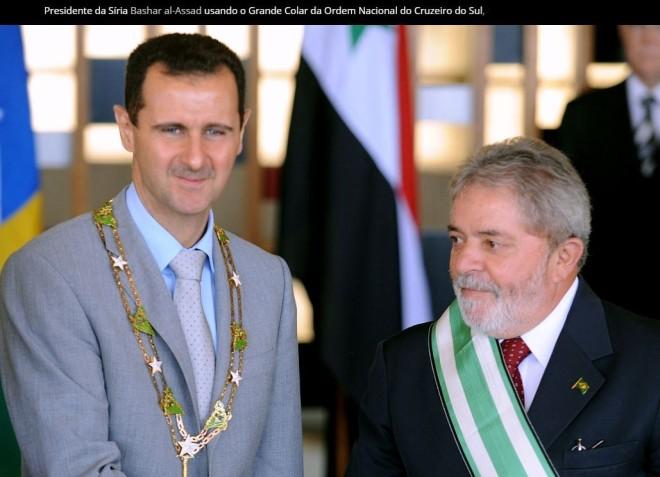Lula e Bashar