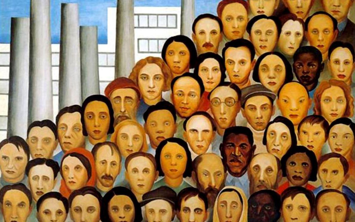 Operários, obra de 1933 by Tarsila do Amaral (1886-1973), artista paulista