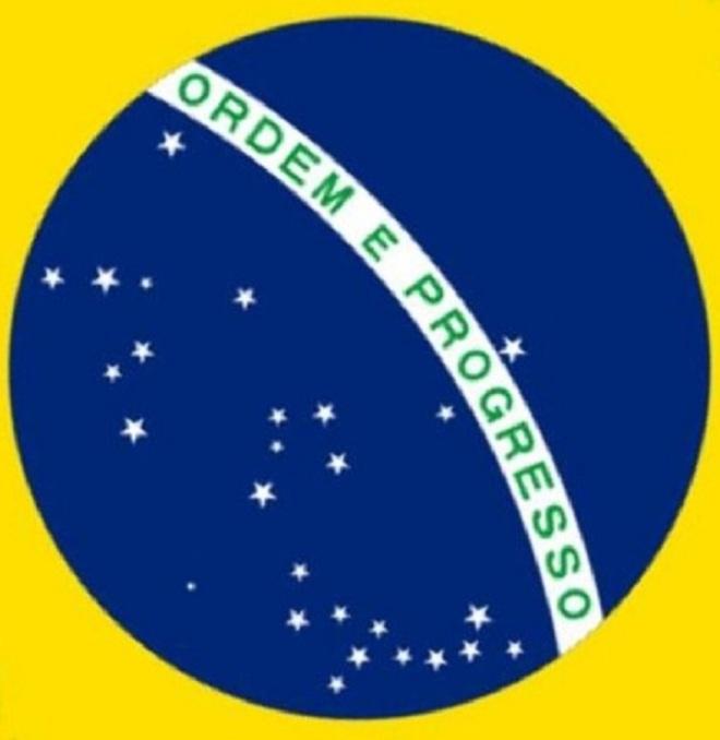 Bandeira brasileira como manda o figurino Clique para ampliar