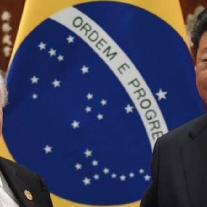 Bandeira brasileira em versão chinesa Clique para ampliar