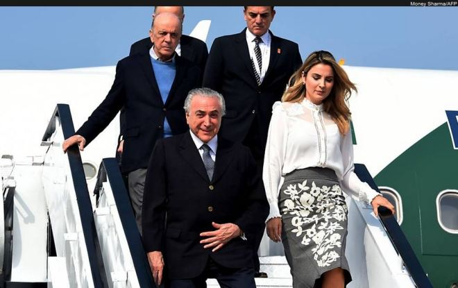 Chegada de Michel Temer a Goa (Índia), 15 out° 2016