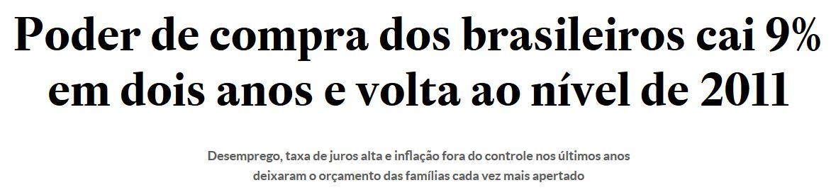 Chamada do Estadão online, 16 out° 2016