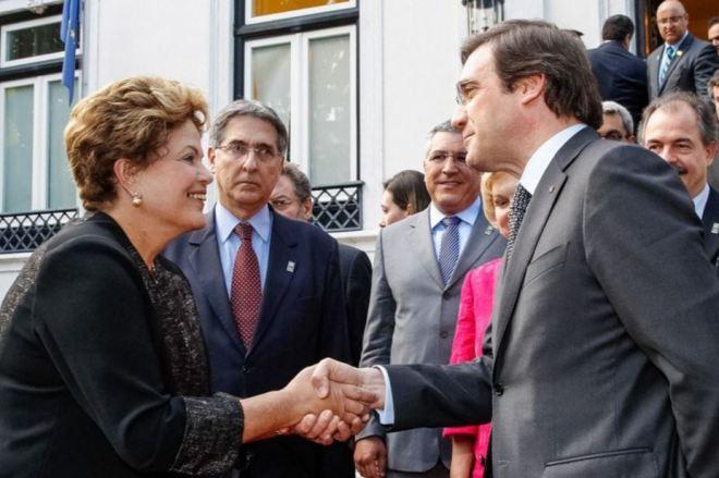 Dilma e Pedro Passos Coelho