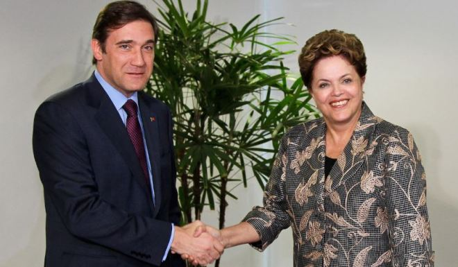 Pedro Passos Coelho e Dilma