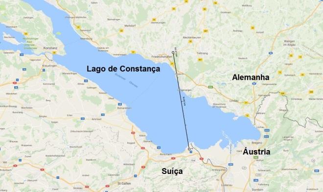 Percurso do voo comercial mais curto do mundo Imagens: Google maps