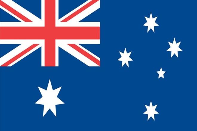 Bandeira da Austrália - Cruzeiro do Sul representado corretamente