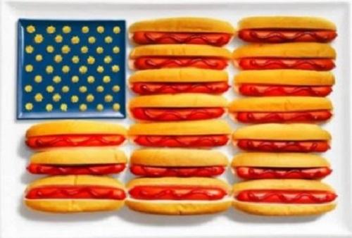 EUA: hot dog e mostarda