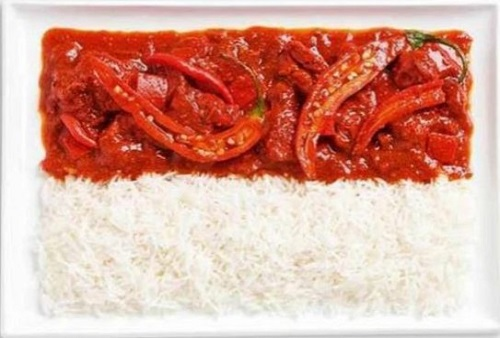 Indonésia: pimenta malagueta e arroz
