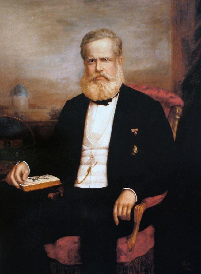 D. Pedro II óleo de Delfim da Câmara (1834-1916)