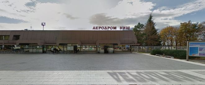 Aeroporto de Niš, Sérvia Crédito: Google Street View