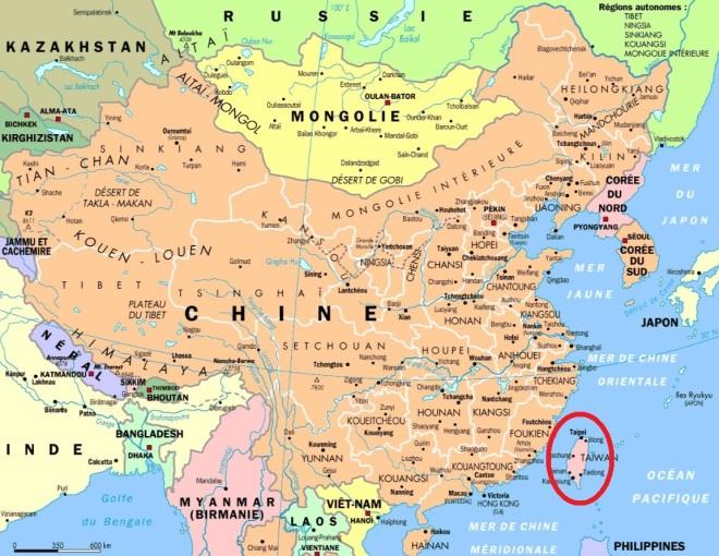China continental & Taiwan